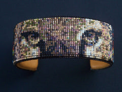 Native American Wildlife Beaded Florida Panther Cuff Bracelet 1