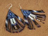 Cherokee Beaded Purple Lavender Arrowhead Earrings 2