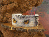 Native American Wildlife Beaded White Owl Cuff Bracelet 2