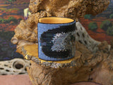 Eagle Eyes Native American Beaded Cuff Bracelet 3