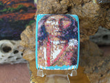 Native American Warrior Beaded Turquoise Cuff Bracelet 2