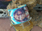 Native American Warrior Beaded Turquoise Cuff Bracelet 5
