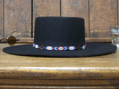 Native American Beaded Ruby Arrowhead Hat Band 1