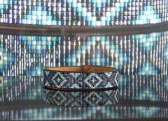 Diamondback Beaded Leather Bracelet