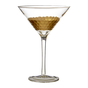 Gold Honeycomb Cocktail Glass