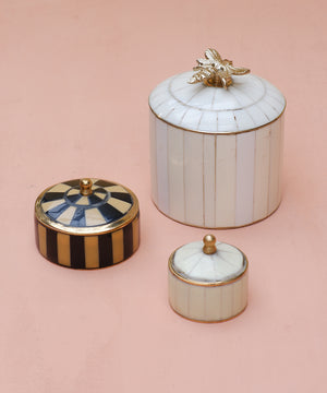 Small White Circus Trinket And Jewellery Box