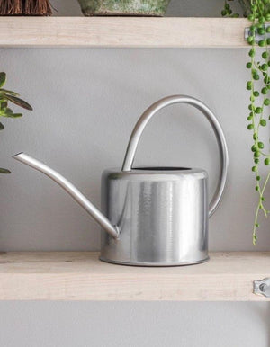 Metallic Silver Indoor Watering Can