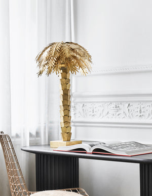 Brass Palm Table Lamp    PRE ORDER