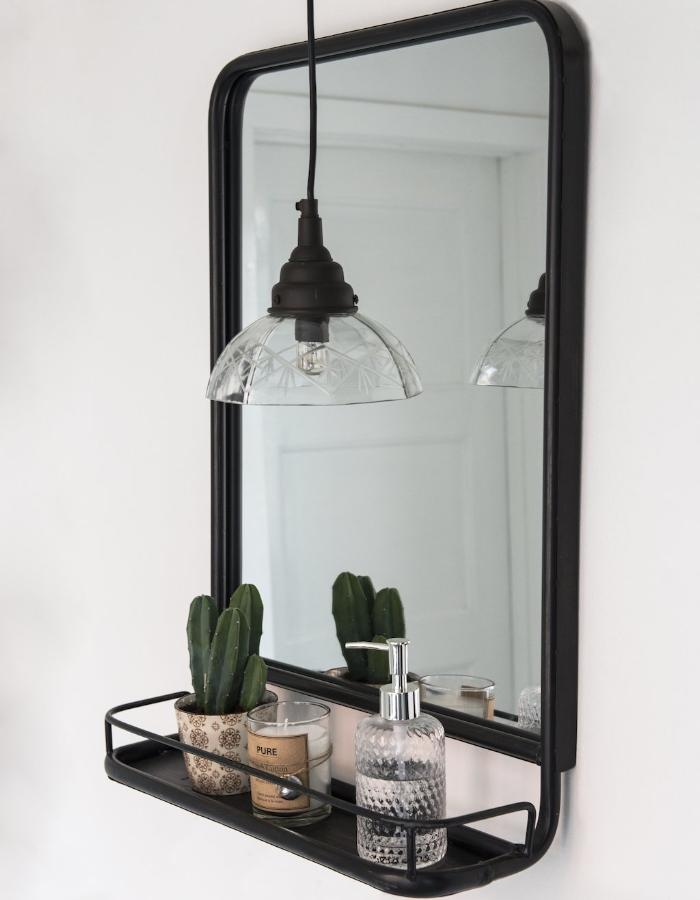 Large Industrial Wall Mirror With Mini Shelf Pre Order November The Forest Co