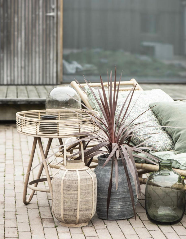 Rattan Circular Small Side Table