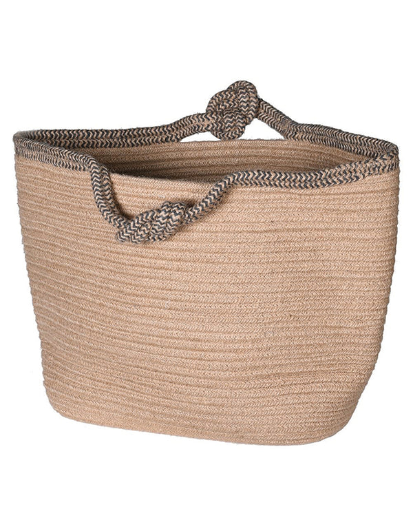 Natural Jute with Knotted Handle