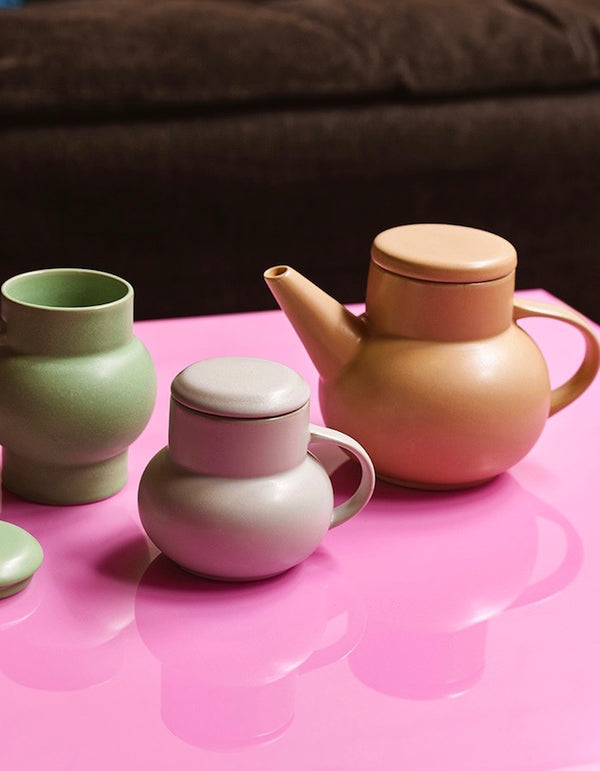 Pastel Bubble Tea Pot and Mugs with Lids PRE ORDER