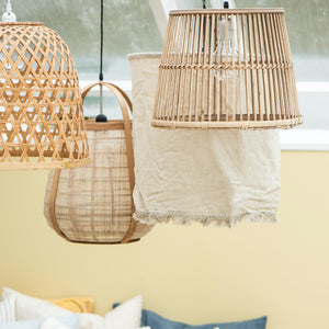 Hessian Pendant Shade  PRE ORDER JULY