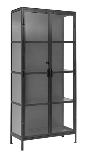 Black Iron And Glass Cabinet. PRE ORDER