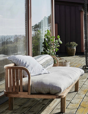 Natural Wood Slat Daybed  PRE ORDER AUGUST