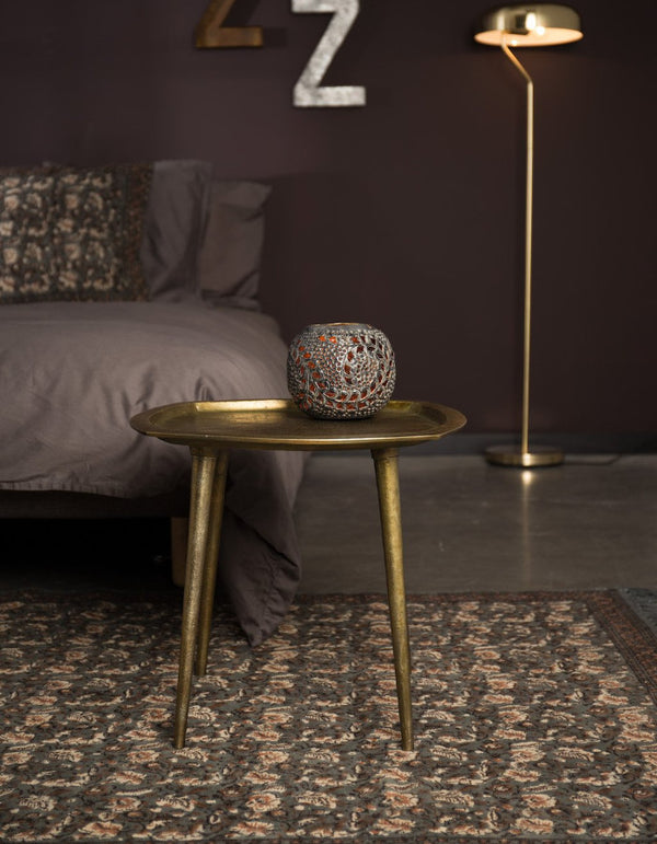 Brass Four Legged Side Table