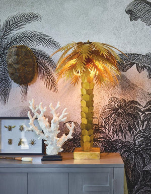 Brass Palm Table Lamp