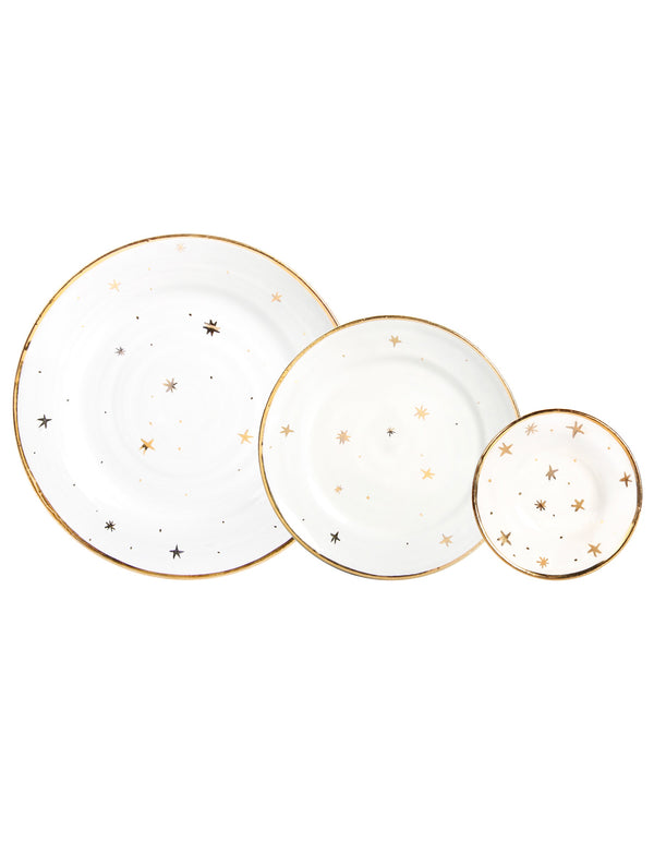 Golden Star Plates in a Gift Box