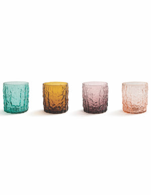 Set of Four Colourful Trunk Glasses. PRE ORDER NOVEMBER