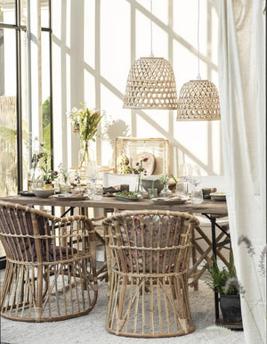 Bamboo Lattice Shades