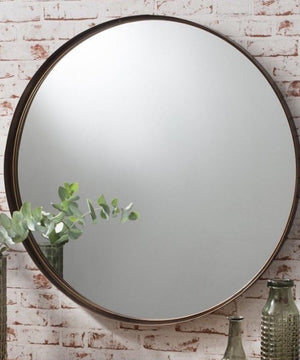 Bronzed Extra large Circular Mirror  PRE ORDER MARCH