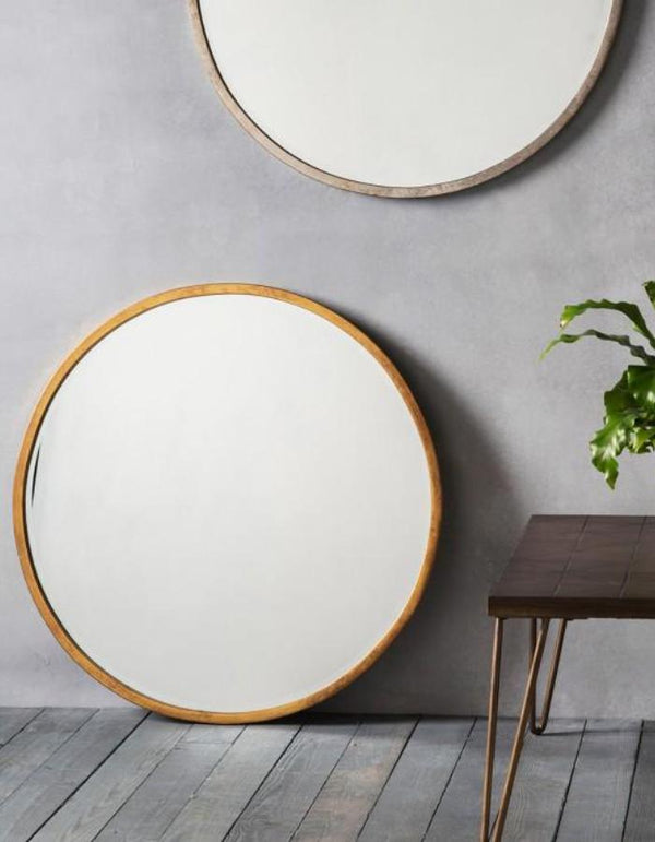 Antique Gold Round Mirror
