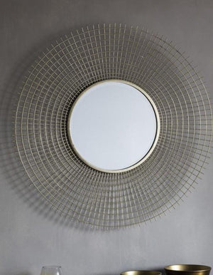 Gold Webbed Sunburst Mirror