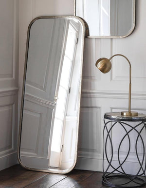 Antiqued Silver Slim Full Length Mirror - Pre-order for early July