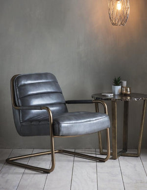 Black Leather Lounge Chair