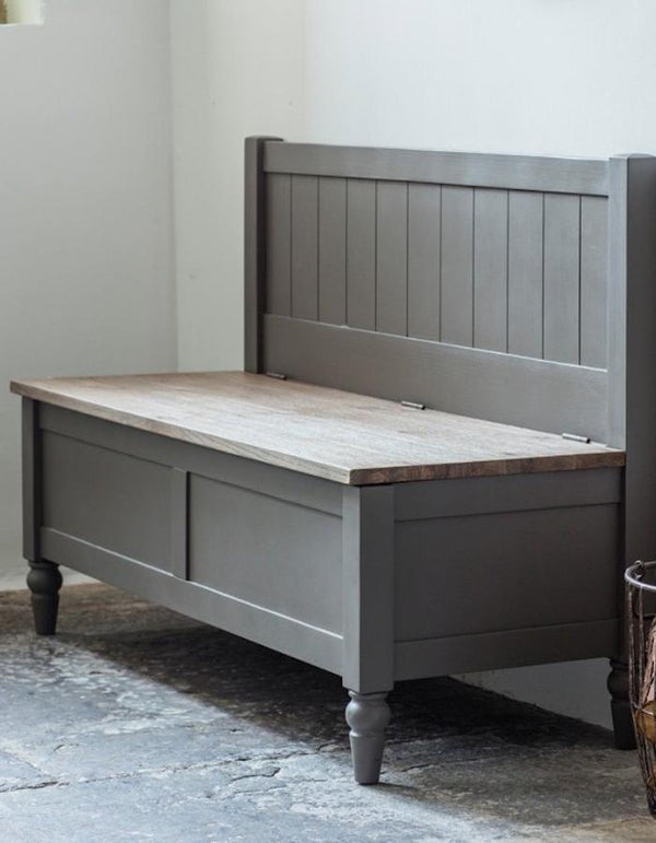Dart Hall Bench Grey. PRE ORDER FEBRUARY