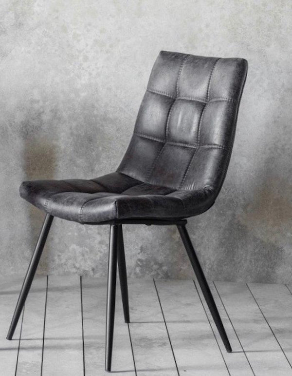 Dixie Grey Faux Leather Chair
