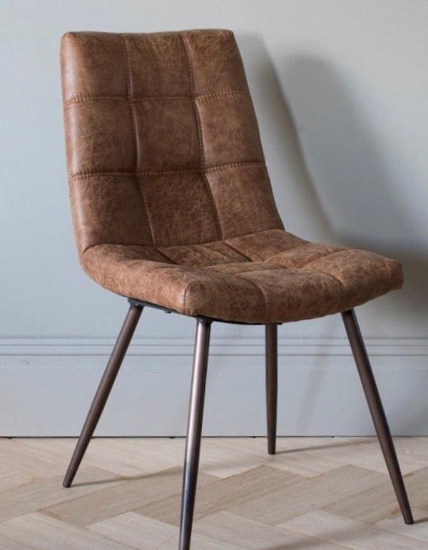 Dixie Brown Faux Leather Chair PRE ORDER FEBRUARY