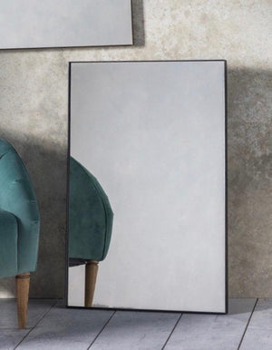 Black Rectangle Slim Mirror