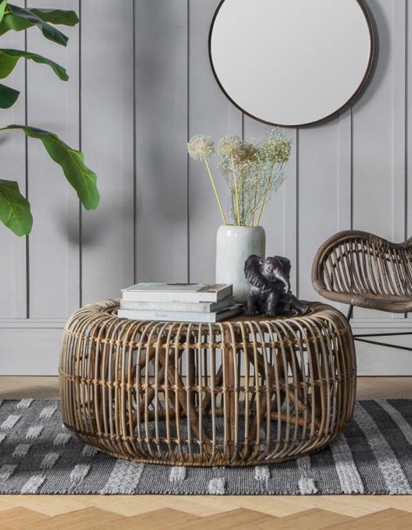Natural Rattan Coffee Table. PRE ORDER FEBRUARY