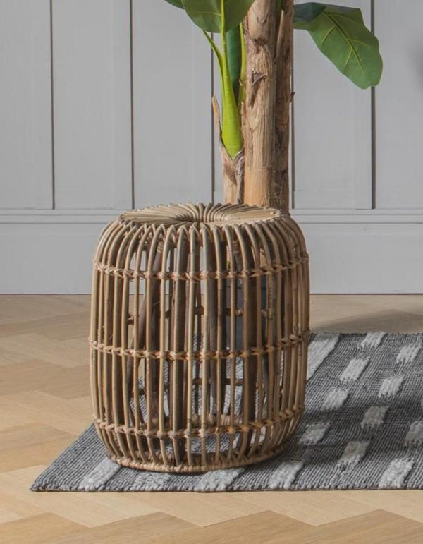 Rattan Circular Domed Side Table