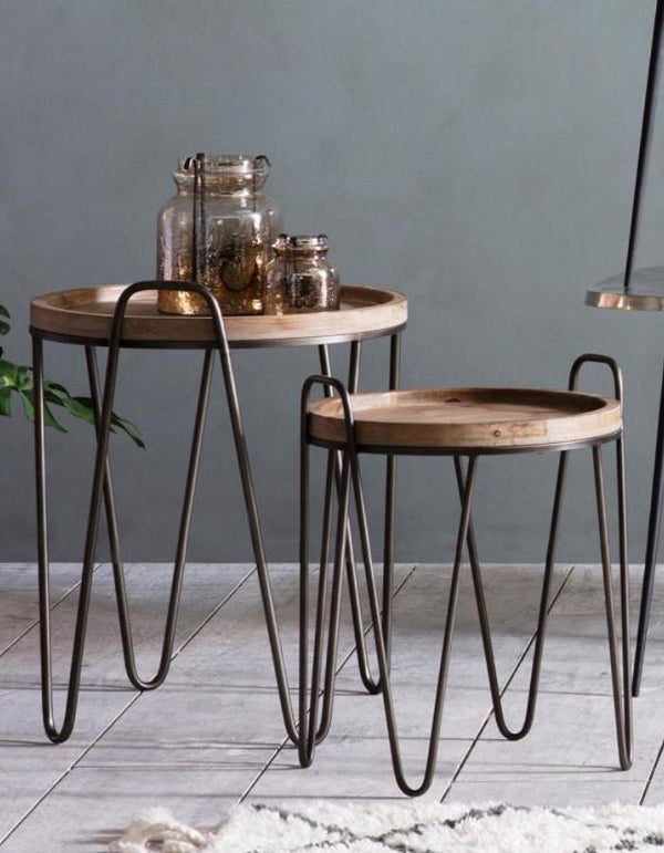 Hair Pin Legged Nesting Tables