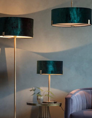 Peacock Shade Table Lamp