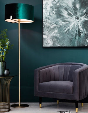Peacock Shade Floor Lamp