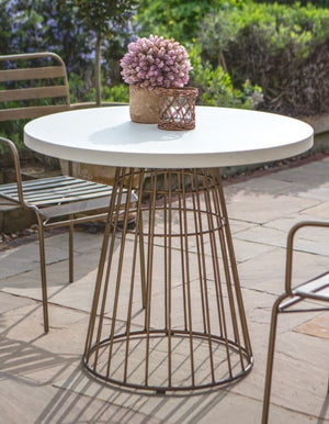 Circular Brass Fluted Bistro Table. PRE ORDER APRIL