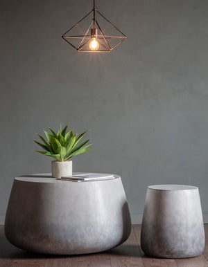 Faux Concrete Look Side Table - PRE ORDER FOR APRIL