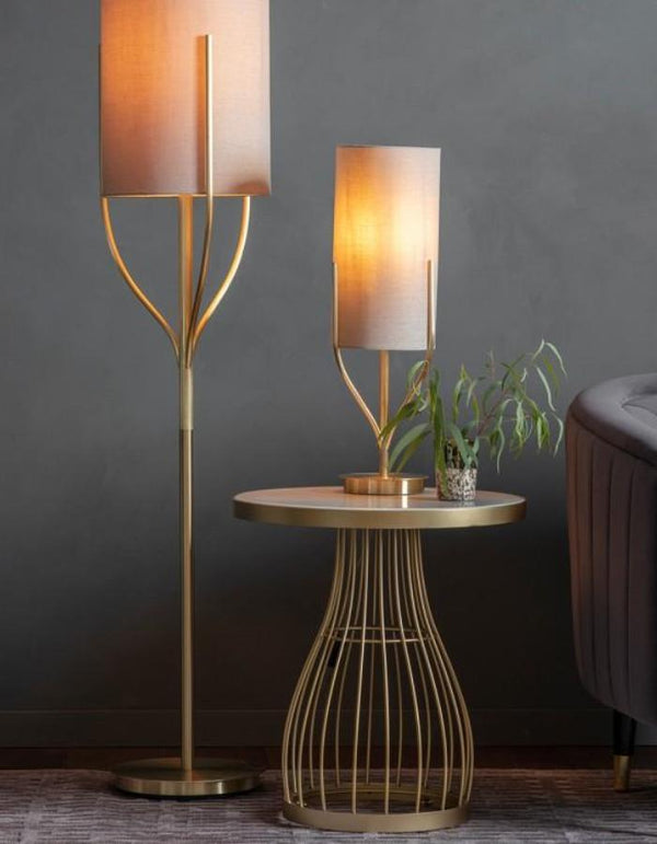 Gold Twist Floor Lamp
