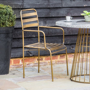 Set Of Two Bronze Retro Arm Chairs