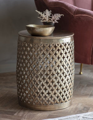 Metal Weaved Mini Side Table. PRE ORDER OCTOBER