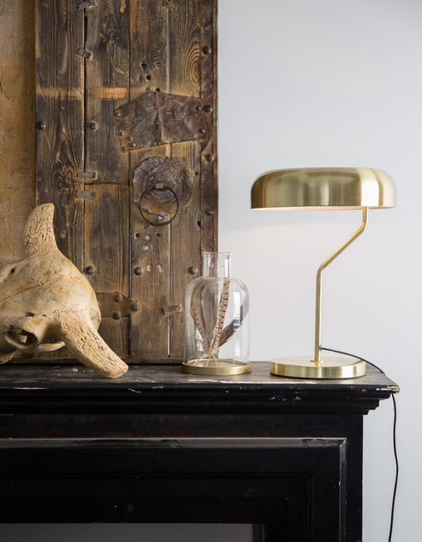 Brass Slim Domed Desk Light