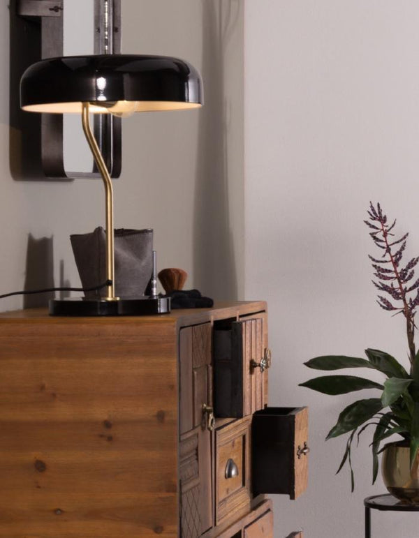 Black Slim Domed Desk Light