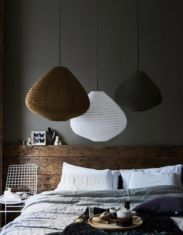 Muted Fabric Lanterns