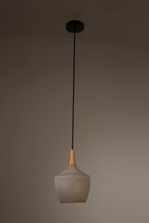 Concrete and Ash wood Pendant Shades