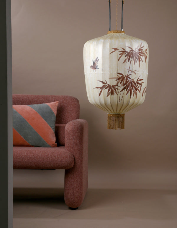Extra Large Hand Painted Fabric Lantern