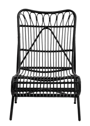 Black Garden Lounge Chair