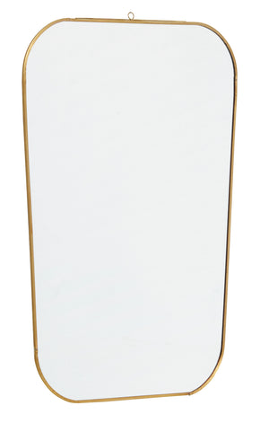 metal and glass wall mirror
